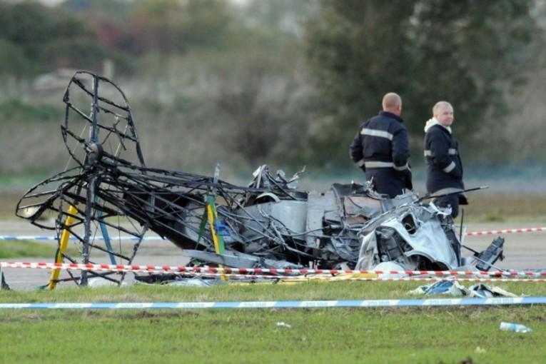 תאונה אווירית: מטוס קל התרסק ליד מנחת מחניים ונשרף