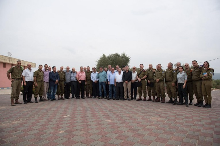מפגש ראשי רשויות ואלוף הפיקוד