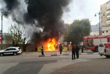 צפו בוידאו: אוטובוס של אגד עלה בלהבות