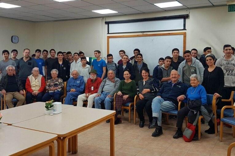 מפגש מרגש תלמידי ישיבתית-דרכא המתמיד עם ניצולי שואה מ'בית ותיקי הגליל'