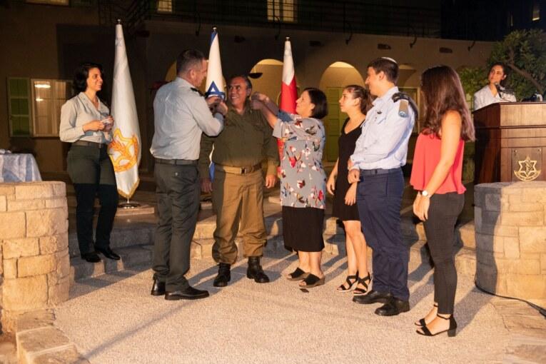 """הרמטכ""""ל העניק דרגת אלוף משנה לאבי ממן מפקד היקל""""ר קריית שמונה"""