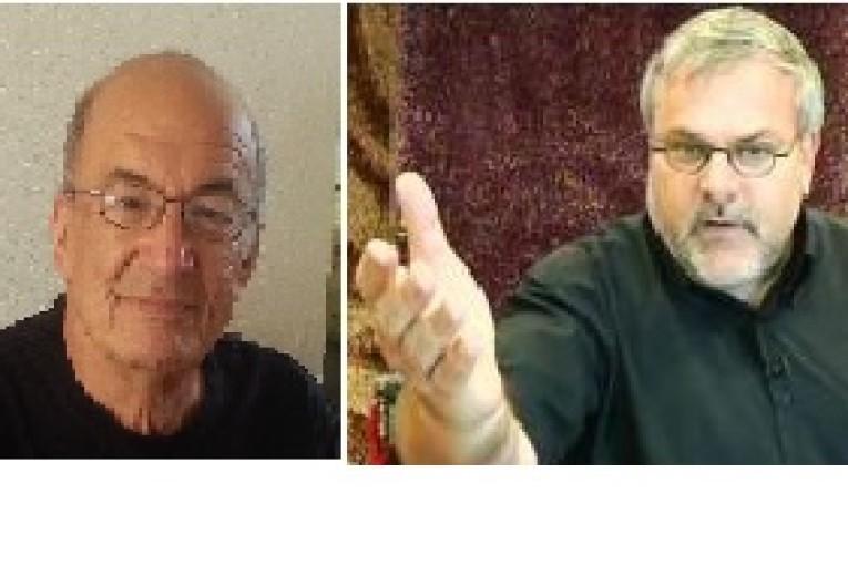 מנחם הורוביץ ויוסי שריד  תחת מיקרופון אחד