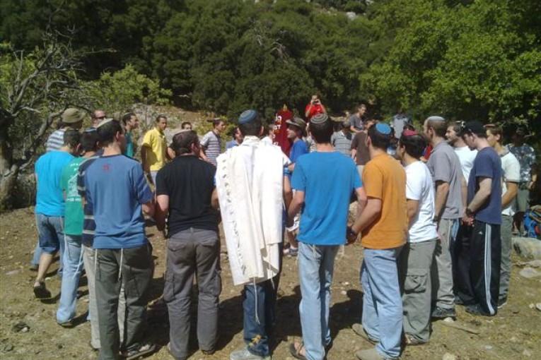 חידוש 'ברית בין הבתרים' בהר דב נערך על ידי תלמידי ישיבת ההסדר קריית שמונה