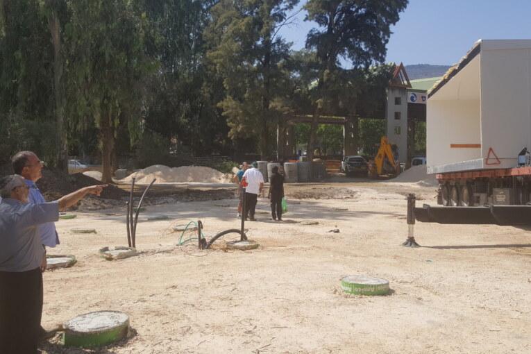 הונחו המבנים היבילים שישמשו את תלמידי בית הספר האזורי לילדים אוטיסטים בקריית שמונה