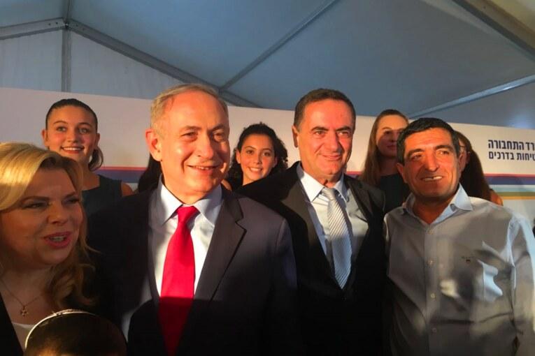 חברת נתיבי ישראל: ראש הממשלה נתניהו חנך  את רכבת העמק בעפולה