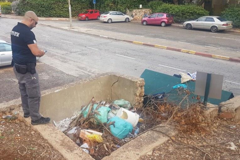 נקנס על השלכת פסולת