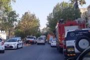 חשש מקריסת בנין ברחוב שפרינצק – רכבי חירום במקום